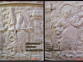 佛教浮雕四大天王雕刻