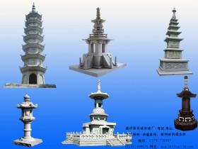 寺院佛塔雕刻曲直相合自然流畅