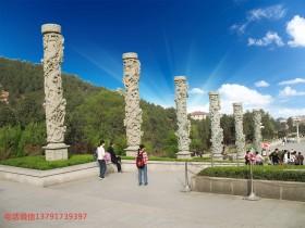 家祠祠堂石龙柱图片_宗祠石雕龙柱景区石龙柱的运用与摆放讲究