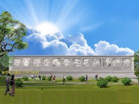 二十四孝浮雕壁画是宣扬孝文化的所在