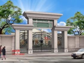 从欧式门楼图片_别墅石大门看建造设计事项和要求
