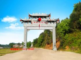 江西村口石牌坊雕刻图案选择及寓意