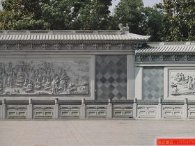 浮雕佛祖释迦摩尼说法石雕壁画制作厂家
