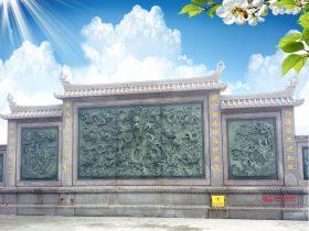 九龙壁石雕照壁浮雕影壁吉祥作用和图片大全