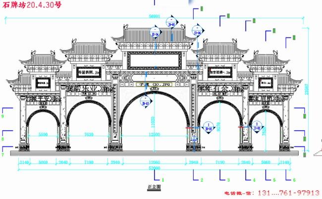 石牌楼石牌坊的构造样式分析介绍