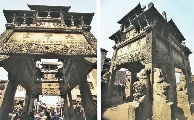 安徽歙县许国牌坊来历典故和八角石牌楼图片