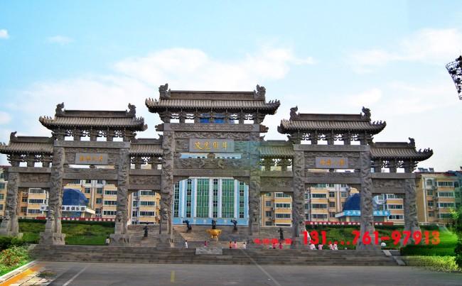 农村牌楼厂家六大雕刻技法和石牌楼价格