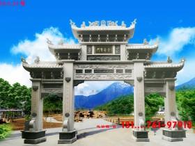 青石石牌坊和花岗岩石牌楼那个适合广州农村修建吗