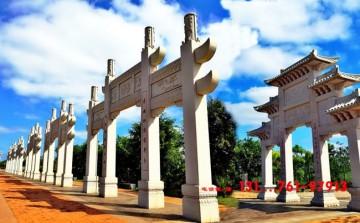 海南农村牌坊村口石牌楼图片-美丽乡村入口设计图案