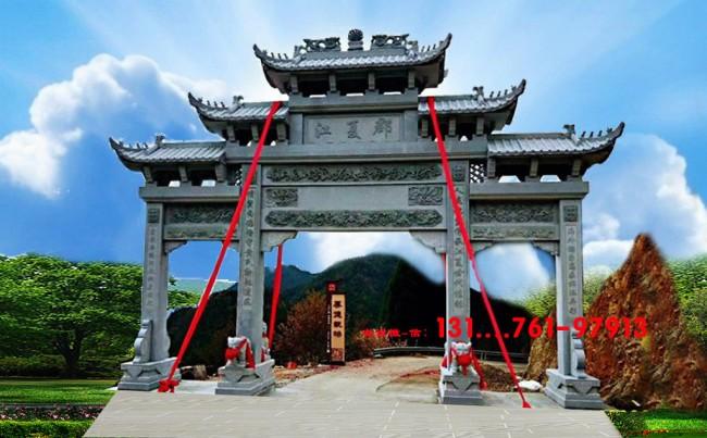 广东农村牌坊好看在哪里-斗拱的雕刻艺术