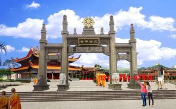 福建寺院山门石牌坊-佛教石牌楼的禅境营造