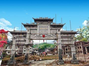 湖南益阳农村石牌坊石牌楼制作案例