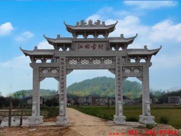 江西农村牌坊石材价格和图片大全