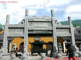 寺院山门石牌坊设计图样式介绍_雕刻看好了