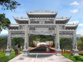 海南广州等南方农村牌坊建筑文化图片特色