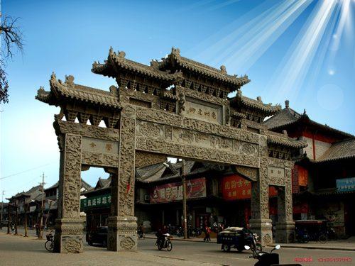 仿古大门牌楼牌坊制作_古村古镇仿古门楼的样式特点有哪些