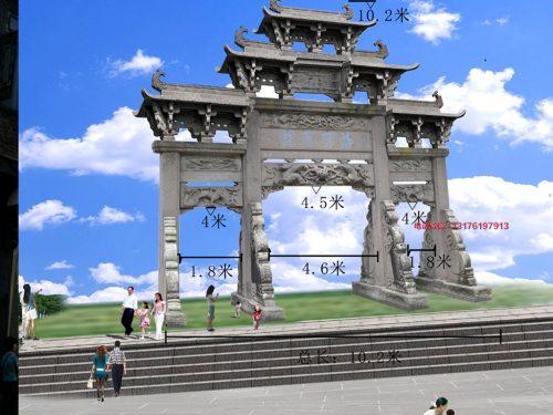 徽州农村石门楼石牌楼为什么是美丽乡村重要风景