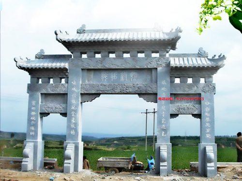宗祠石牌坊图片大全-农村祠堂石牌楼修建的意义是什么