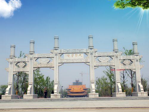 农村门楼-寺院山门石牌坊厂家的装饰艺术