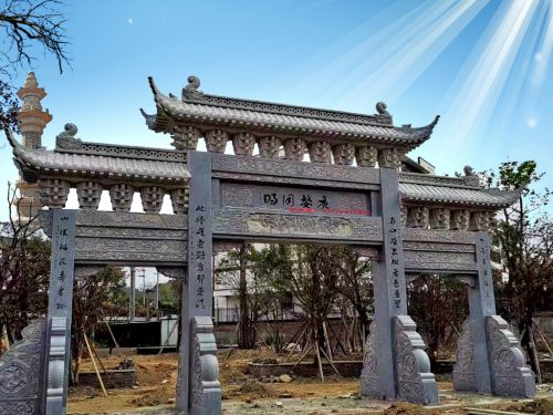 村口石门楼小区石牌楼_广东潮州石牌坊门头大门设计图片和价格 门楼生产厂家