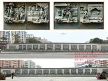 二十四孝浮雕墙_村庄景区广场浮雕
