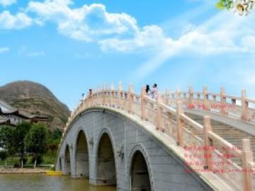 花岗岩景观桥栏杆大理石拱桥护栏图片