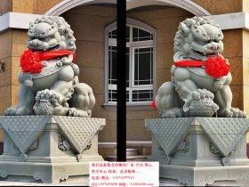 门前摆放石狮子的讲究和寓意