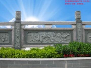 寺庙青石栏杆-古建筑园林护栏图片设计