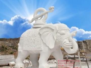 汉白玉石雕大象_风水大象如何摆放和寓意