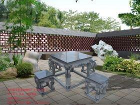 石桌石凳图片大全-别墅户外花园休闲棋盘桌