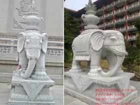 寺院古建筑石雕大象雕刻造型图片