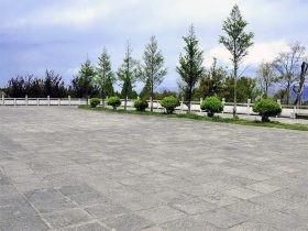 广场仿古青石板-园林青石板地面铺装