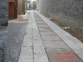 乌镇古朴的仿古青石板路面 _青石板材图片