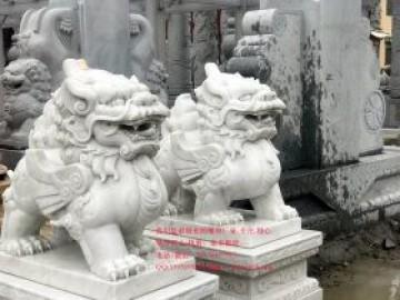 工厂大门口雕塑汉白玉貔貅摆放的六个原则