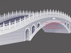 景观桥栏杆石拱桥-北京颐和园景观桥和赵州桥样式图片制作