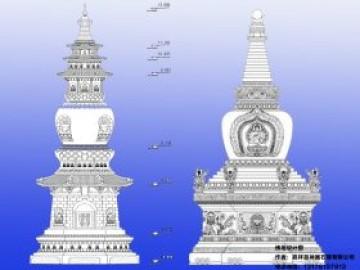 常见的八大石雕佛塔图片分类样式