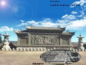 寺院浮雕照壁_观音菩萨佛像说法海会壁画雕刻