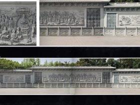 释迎牟尼讲经说法浮雕-大型照壁佛祖说法图