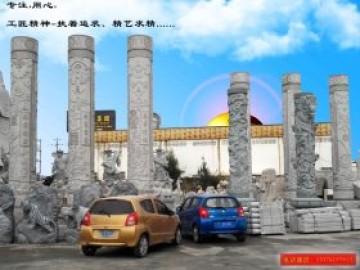 浮雕文化柱-广场石材文化柱图腾柱图片设计制作