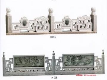花园别墅的青石栏杆和汉白玉护栏图片样式制作厂家