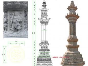 八面青石石经幢图片大全_唐代地藏寺供养经幢的功德