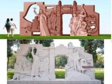 杭州学校壁画-新疆校园浮雕壁画墙设计文化