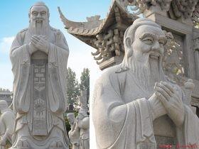 石雕孔子像价格-学校大型孔子像雕塑厂家-孔子雕刻图片大全