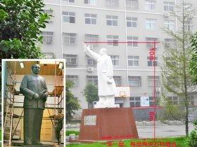 毛主席雕像-汉白玉主席像-伟人名人雕塑像制作厂家