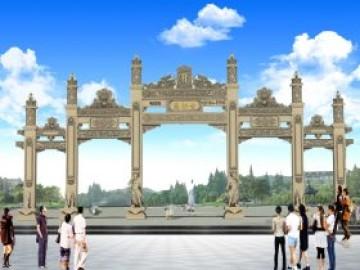 乡村门楼图片大全寺院山门效果图设计的古典之美和古村石材大门价格多少钱