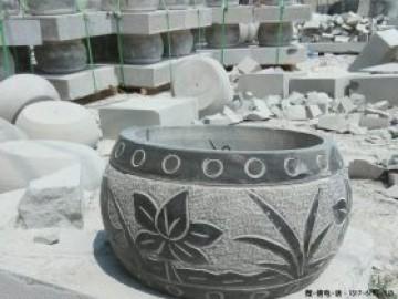 柱墩石厂家图片大全-古建筑圆形和方形-空心柱脚石制作多少钱