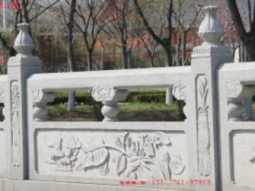 石栏杆花岗岩景观河道护栏好看的雕刻装饰