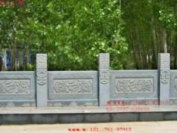 河道护栏厂家-景观花岗岩石雕栏杆雕刻图案设计