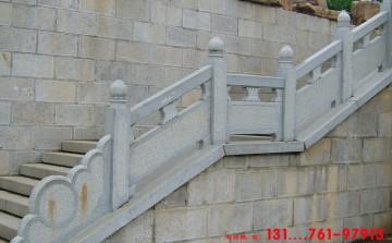景观河道防护栏杆图片和桥面石栏杆尺寸设计制作
