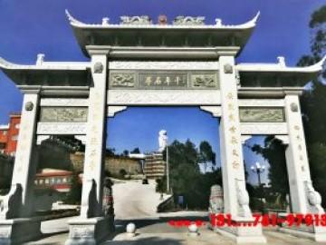 广东农村石牌坊厂家-乡村石牌楼装饰艺术